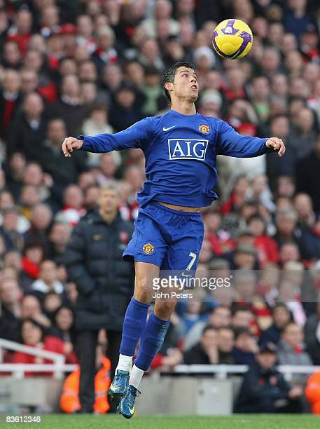 Cristiano Ronaldo of Manchester United in action during the Barclays Premier League match between Arsenal and Manchester United at the Emirates...