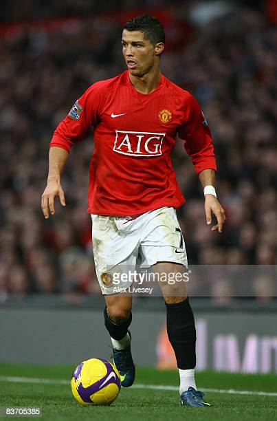 Cristiano Ronaldo of Manchester United in action during the Barclays Premier League match between Manchester United and Stoke City at Old Trafford on...