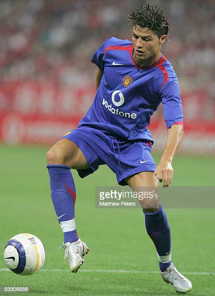 Cristiano Ronaldo of Manchester United in action during the preseason friendly match against Urawa Red Diamonds at Saitama Stadium on 30 July 2005 in...