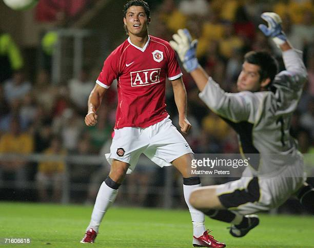 Cristiano Ronaldo of Manchester United in action during the pre-season friendly match between Oxford United and Manchester United at Kassam Stadium...