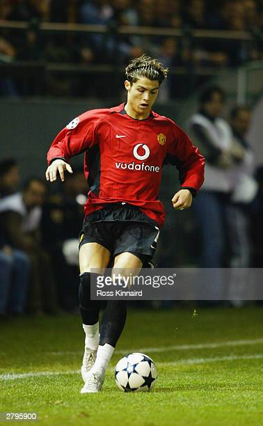 Cristiano Ronaldo of Manchester United in action during the UEFA Champions League Group E match between Panathinaikos and Manchester United on...
