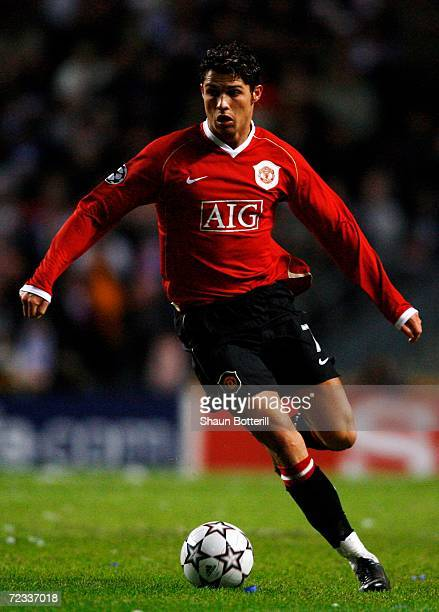 Cristiano Ronaldo of Manchester United in action during the UEFA Champions League Group F match between FC Copenhagen and Manchester United at the...