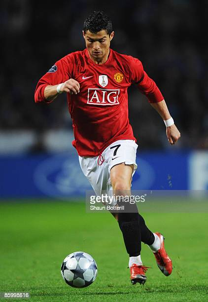 Cristiano Ronaldo of Manchester United in action during the UEFA Champions League Quarter Final second leg match between FC Porto and Manchester...