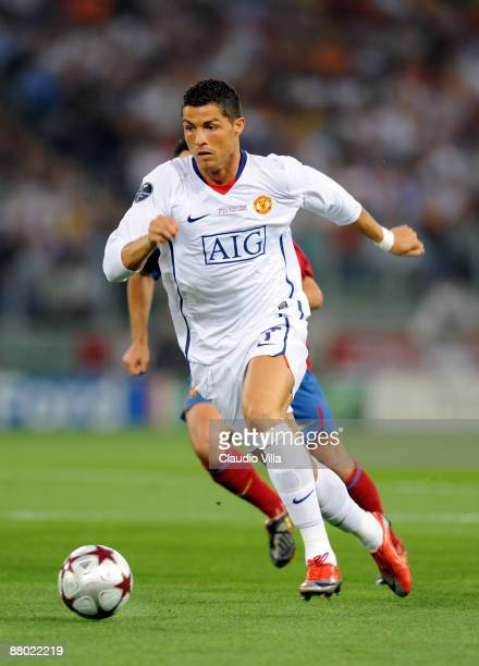 Cristiano Ronaldo of Manchester United in action during the UEFA Champions League Final match between Barcelona and Manchester United at the Stadio...