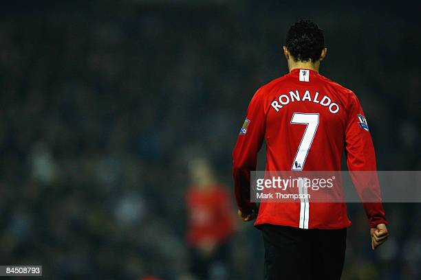 Cristiano Ronaldo of Manchester United walks away during the Barclays Premier League match between West Bromwich Albion and Manchester United at The...