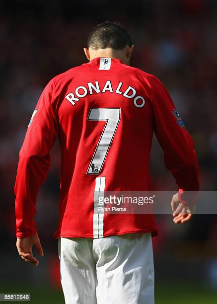 Cristiano Ronaldo of Manchester United walks away during the Barclays Premier League match between Manchester United and Aston Villa at Old Trafford...