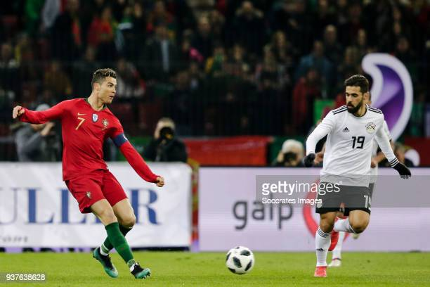 Cristiano Ronaldo of Portugal Abdallah Said of Egypt during the International Friendly match between Egypt v Portugal at the Letzigrund Stadium on...