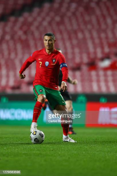 Cristiano Ronaldo of Portugal and Juventus during the international friendly match between Portugal and Andorra at Estadio da Luz on November 11,...