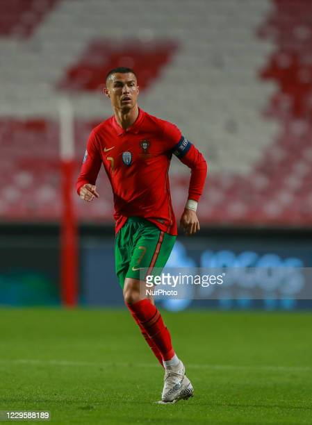 Cristiano Ronaldo of Portugal and Juventus during the International Friendly match between Portugal v Andorra at the Luz stadium on November 11, 2020...
