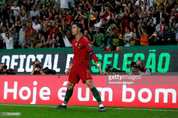 Cristiano Ronaldo of Portugal, celebrate his goal the 2-0 during the UEFA Nations league match between Portugal v Luxembourg at the Estádio José...