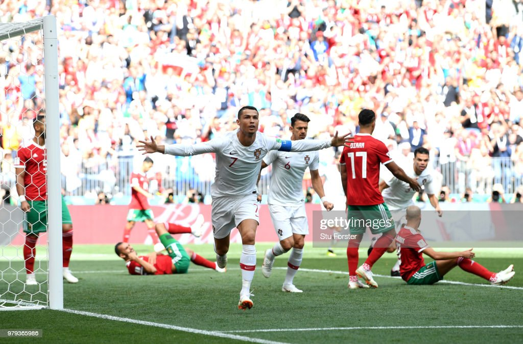 Portugal v Morocco: Group B - 2018 FIFA World Cup Russia : News Photo