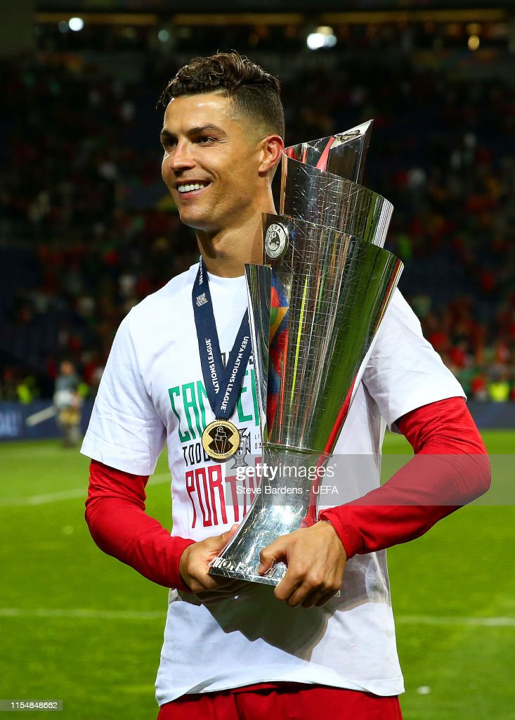 Cristiano Ronaldo Of Portugal Celebrates With The Uefa Nations League News Photo Getty Images