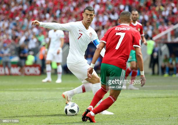 portugal v morocco group b 2018 fifa world cup russia ストックフォト