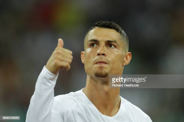 Cristiano Ronaldo of Portugal during the 2018 FIFA World Cup Russia Round of 16 match between Uruguay and Portugal at Fisht Stadium on June 30 2018...