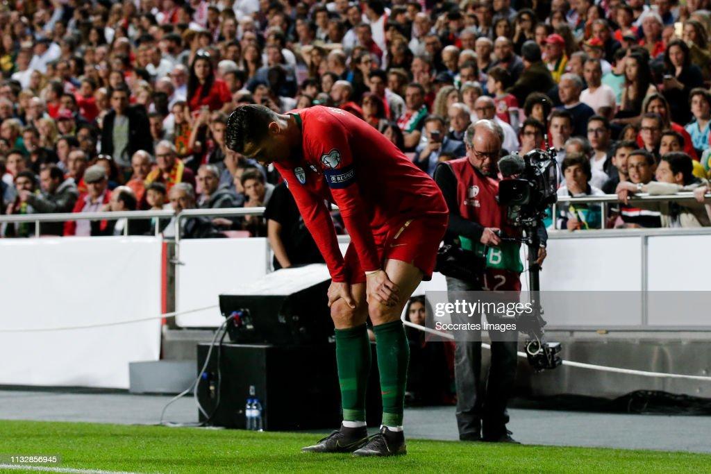 Portugal  v Serbia  -EURO Qualifier : News Photo
