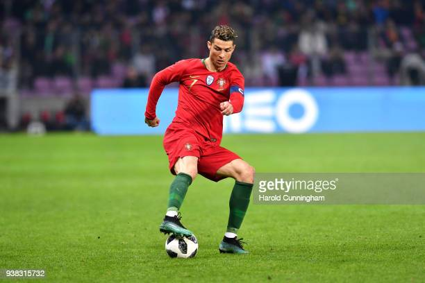 Cristiano Ronaldo of Portugal during the International Friendly match between Portugal v Netherlands at Stade de Geneve on March 26, 2018 in Geneva,...