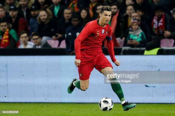 Cristiano Ronaldo of Portugal during the International Friendly match between Portugal v Holland at the Stade de Geneve on March 26 2018 in Geneve...