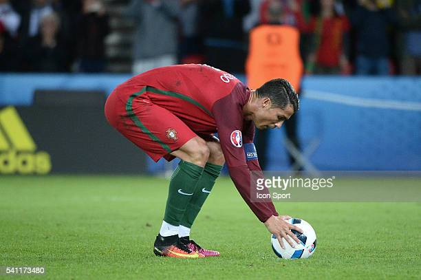 Cristiano Ronaldo of Portugal during the UEFA EURO 2016 Group F match between Portugal and Austria at Parc des Princes on June 18 2016 in Paris France