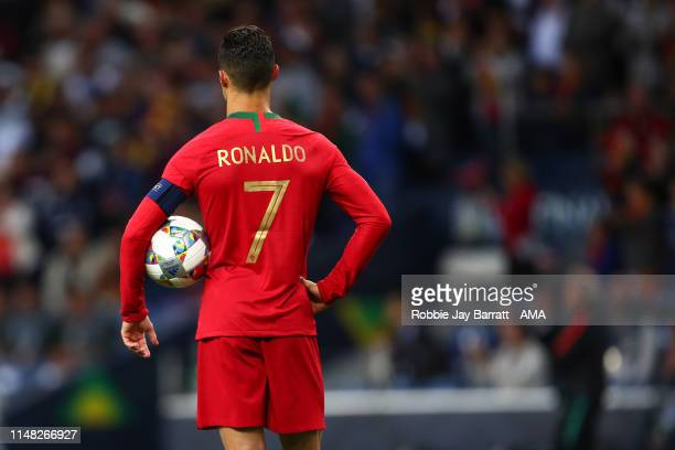 Cristiano Ronaldo of Portugal during the UEFA Nations League SemiFinal match between Portugal and Switzerland at Estadio do Dragao on June 5 2019 in...