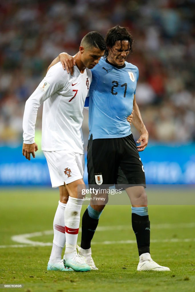 Uruguay v Portugal: Round of 16 - 2018 FIFA World Cup Russia : News Photo
