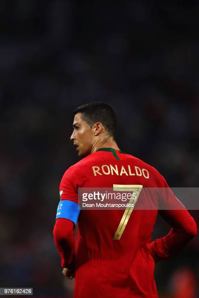 Cristiano Ronaldo of Portugal in action during the 2018 FIFA World Cup Russia group B match between Portugal and Spain at Fisht Stadium on June 15...