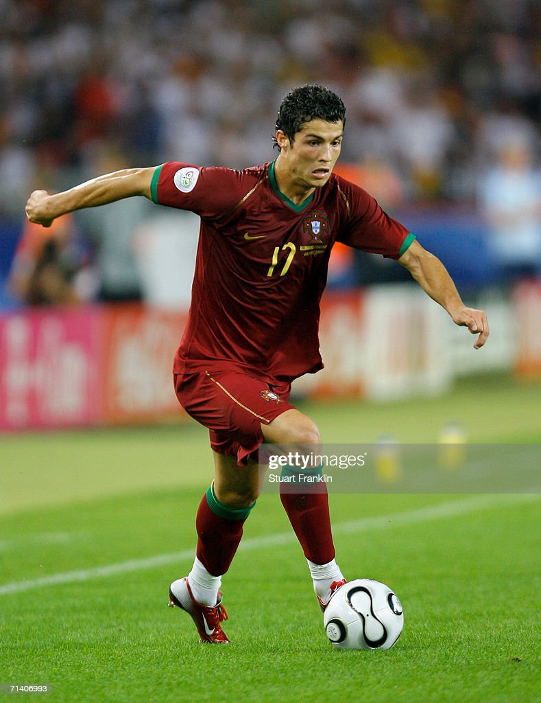 Cristiano Ronaldo of Portugal in action during the FIFA World Cup Germany 2006 Third Place Play-off match between Germany and Portugal played at the Gottlieb-Daimler Stadium on July 8, 2006 in Stuttgart, Germany.
