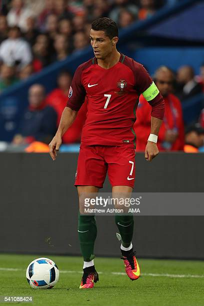 Cristiano Ronaldo of Portugal in action during the UEFA EURO 2016 Group F match between Portugal and Austria at Parc des Princes on June 18, 2016 in...