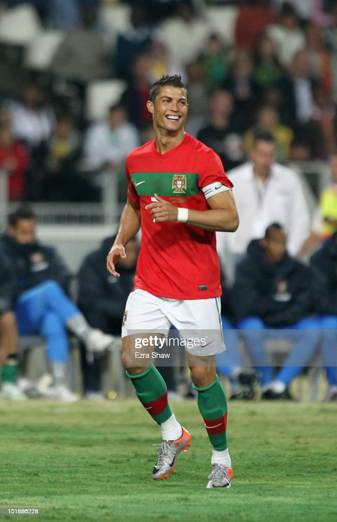 Cristiano Ronaldo of Portugal in action during their friendly match against Mozambique at Wanderers Stadium on June 8, 2010 in Johannesburg, South Africa.