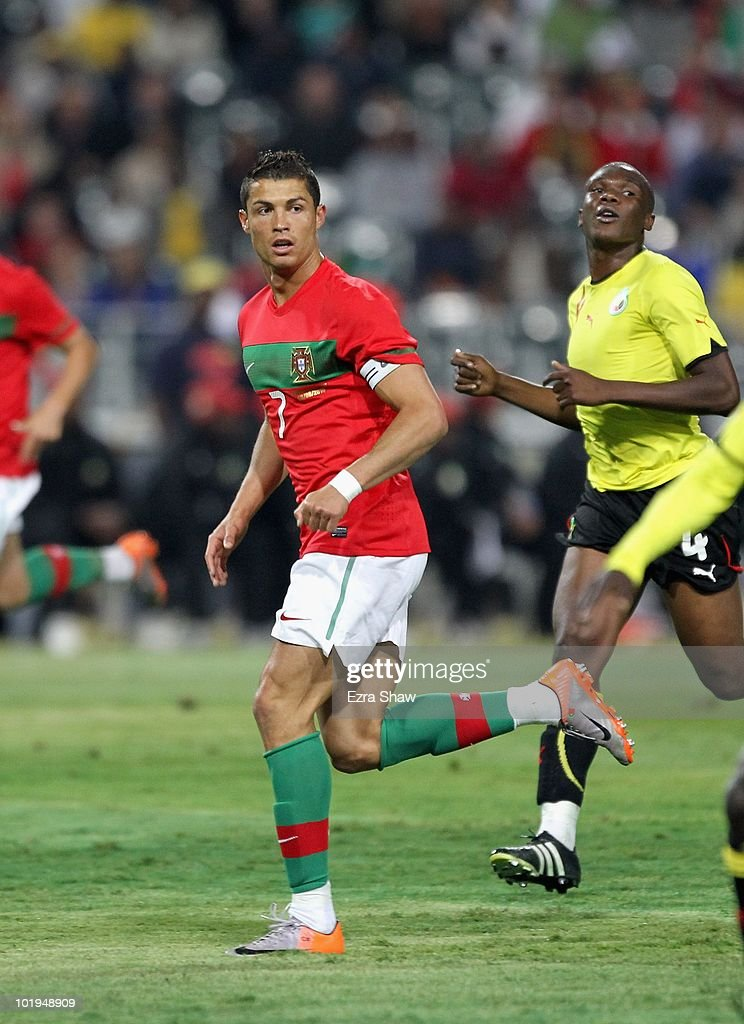 Cristiano Ronaldo of Portugal in action during their international friendly match against Mozambique at Wanderers Stadium on June 8, 2010 in Johannesburg, South Africa.