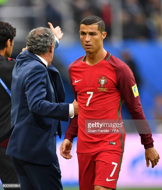 Cristiano Ronaldo of Portugal is seen afer substituted during the FIFA Confederations Cup Russia 2017 Group A match between New Zealand and Portugal...