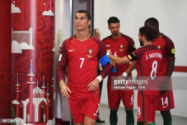 Cristiano Ronaldo of Portugal is seen in the tunnel during the FIFA Confederations Cup Russia 2017 Group A match between Portugal and Mexico at Kazan...