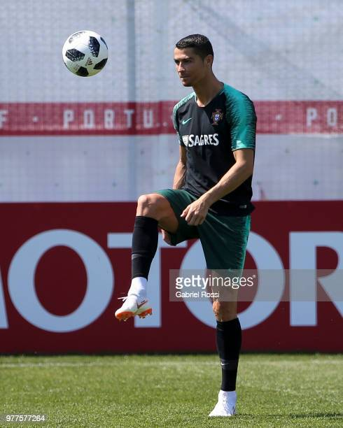 Andre Silva of Portugal speaks during the press conference at Saturn Training Center on June 18 2018 in Kratovo Russia