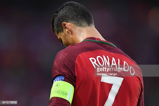 Cristiano Ronaldo of Portugal looks away during the UEFA EURO 2016 Group F match between Portugal and Austria at Parc des Princes on June 18, 2016 in...