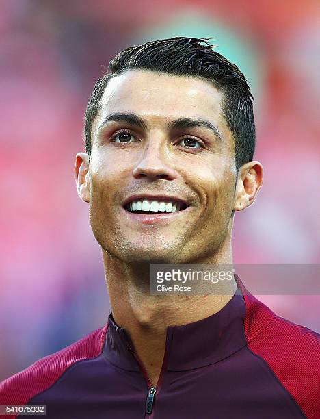 Cristiano Ronaldo of Portugal looks on during the UEFA EURO 2016 Group F match between Portugal and Austria at Parc des Princes on June 18 2016 in...