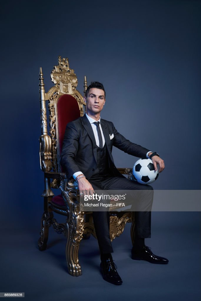 Cristiano Ronaldo of Portugal poses after The Best FIFA Football Awards at the London Palladium on October 23, 2017 in London, England.