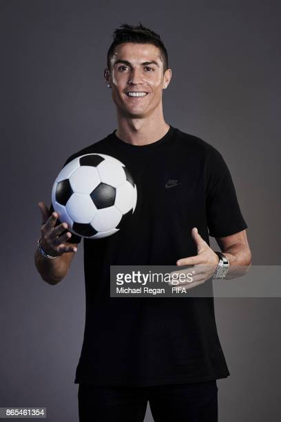 Cristiano Ronaldo of Portugal poses during The Best FIFA Football Awards at The May Fair Hotel on October 23 2017 in London England