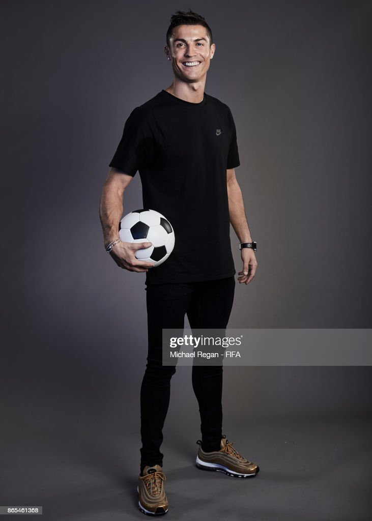 Cristiano Ronaldo of Portugal poses during The Best FIFA Football Awards at The May Fair Hotel on October 23, 2017 in London, England.