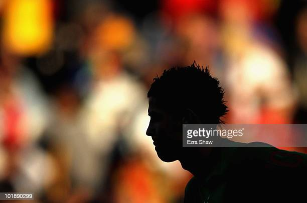 Cristiano Ronaldo of Portugal warms up before their international friendly match against Mozambique at Wanderers Stadium on June 8, 2010 in...