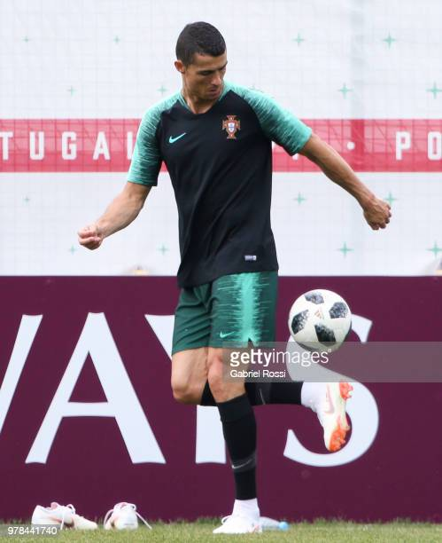 Ricardo Quaresma of Portugal and teammates warms up during a training session at Saturn Training Baseon June 19 2018 in Kratovo Russia