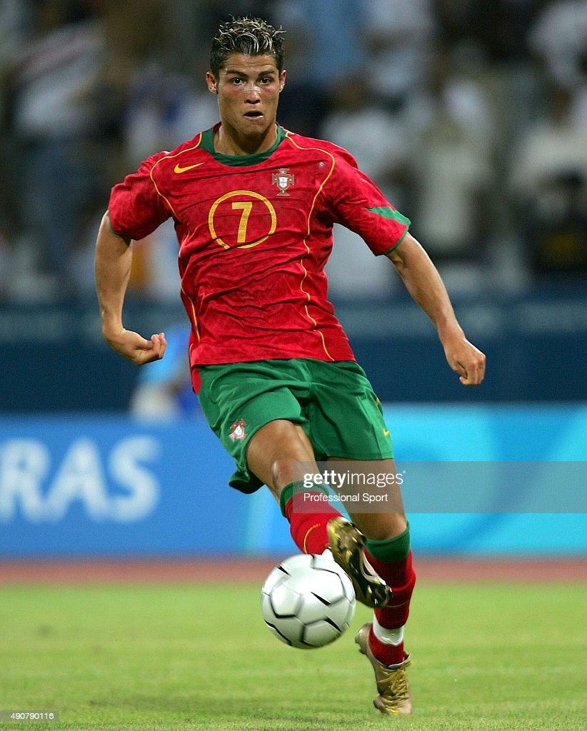 Football C Ronaldo: Cristiano Ronaldo Of Portugal With The Ball During The Men