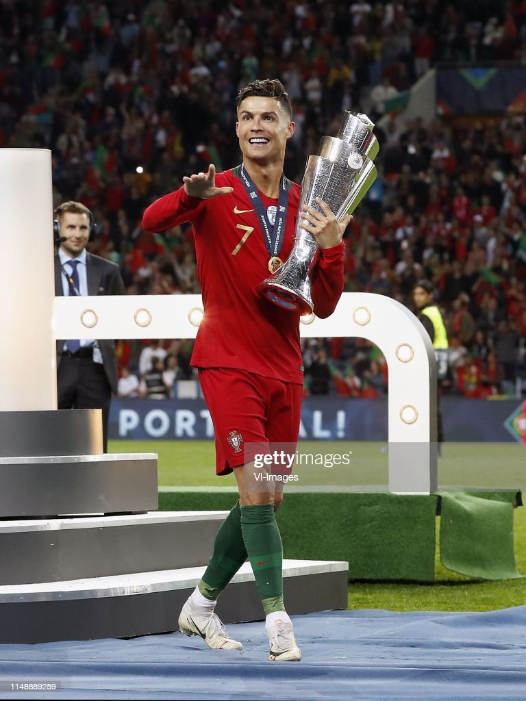 Cristiano Ronaldo of Portugal with the Nations League ...