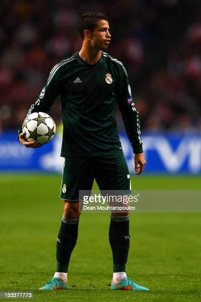 Cristiano Ronaldo of Real in action during the UEFA Champions League Group D match between Ajax Amsterdam and Real Madrid at Amsterdam Arena on...