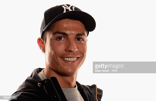 Cristiano Ronaldo of Real Madrid and Portugal poses for a portrait prior to the FIFA Ballon d'Or Gala 2012 at the Kongresshaus on January 7, 2013 in...