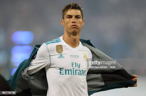 Cristiano Ronaldo of Real Madrid before the UEFA Champions League final between Real Madrid and Liverpool on May 26 2018 in Kiev Ukraine
