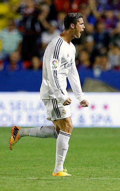 Levante ud v real madrid cf la liga photos and images getty images cristiano ronaldo of real madrid celebrates after scoring during the la liga match between real madrid voltagebd Gallery