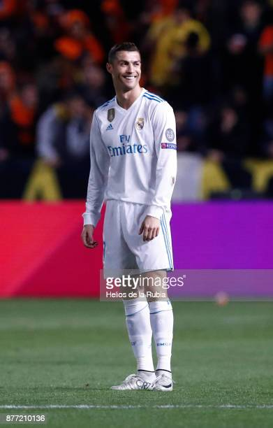 Cristiano Ronaldo of Real Madrid CF celebrates after scoring during the UEFA Champions League group H match between APOEL Nikosia and Real Madrid at...