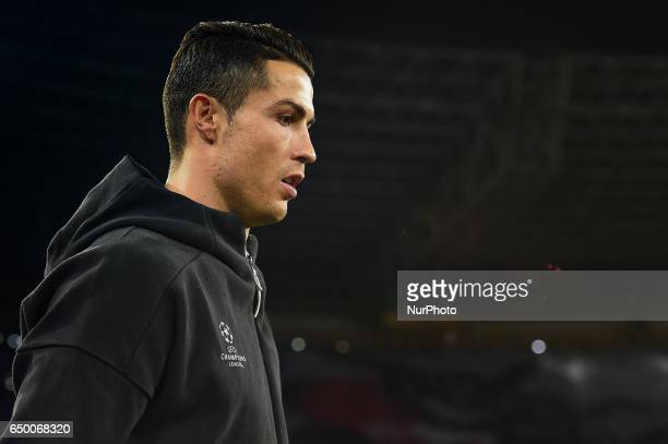 Cristiano Ronaldo of Real Madrid CF during the UEFA Champions League match between SSC Napoli and Real Madrid at Stadio San Paolo Naples Italy on 7...