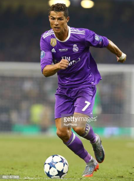 Cristiano Ronaldo of Real Madrid CF during the UEFA Champions League Final match between Real Madrid and Juventus at National Wales Stadium in...