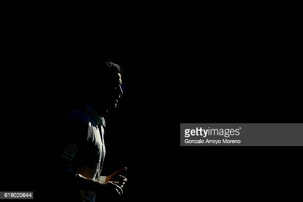 Cristiano Ronaldo of Real Madrid CF in action during the La Liga match between Deportivo Alaves and Real Madrid CF at Estadio de Mendizorroza on...