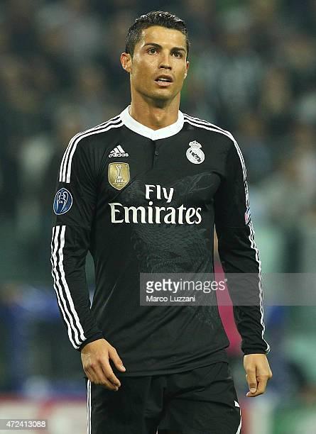 Cristiano Ronaldo of Real Madrid CF looks on during the UEFA Champions League semi final match between Juventus and Real Madrid CF at Juventus Arena...